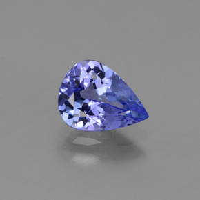 Violet Blue Tanzanite Gem - 1.2ct Pear Facet (ID: 424694)