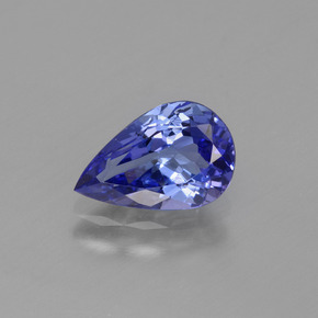 1.4ct Pear Facet Deep Purple Blue Tanzanite Gem (ID: 424695)