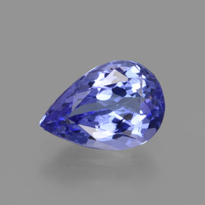 Violet Blue Tanzanite Gem - 1.5ct Pear Facet (ID: 424746)
