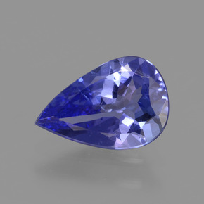 1.3ct Pear Facet Intense Violet Blue Tanzanite Gem (ID: 424752)