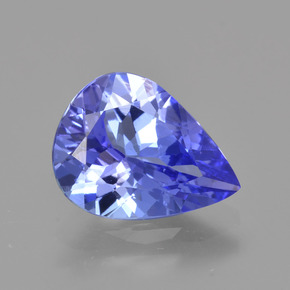 2.20 ct Pear Facet Violet Blue Tanzanite Gemstone 10.40 mm x 7.9 mm (Product ID: 424859)