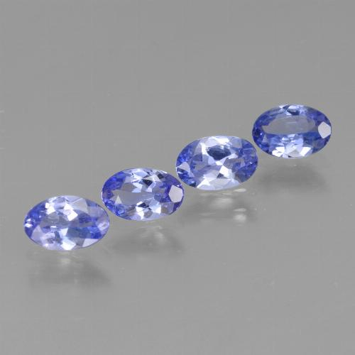 Violet Blue Tanzanite Gem - 0.4ct Oval Facet (ID: 438150)