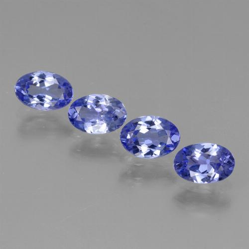 0.5ct Oval Facet Intense Violet Blue Tanzanite Gem (ID: 438151)