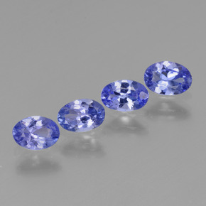0.4ct Oval Facet Intense Violet Blue Tanzanite Gem (ID: 438154)