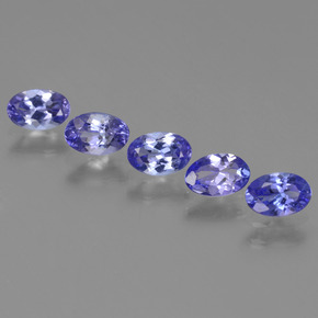 0.4ct Oval Facet Intense Violet Blue Tanzanite Gem (ID: 438182)