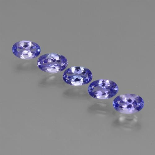 0.4ct Oval Facet Intense Violet Blue Tanzanite Gem (ID: 438190)