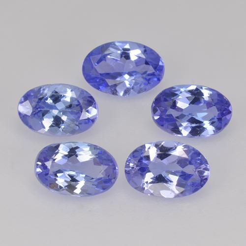 0.5ct Oval Facet Intense Violet Blue Tanzanite Gem (ID: 445774)