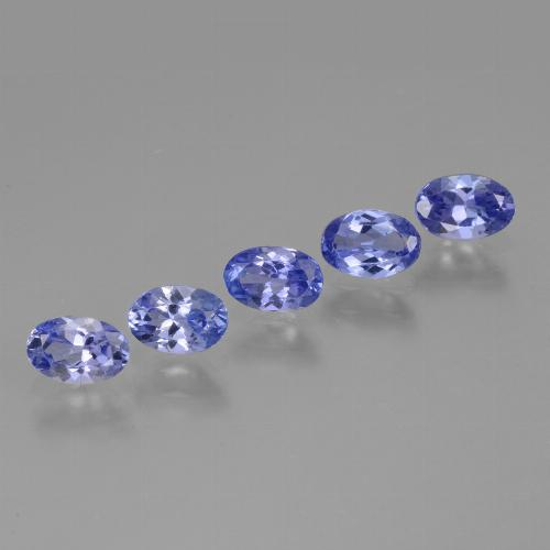 Violet Blue Tanzanite Gem - 0.5ct Oval Facet (ID: 445776)