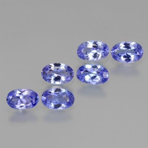 Violet Blue Tanzanite Gem - 0.4ct Oval Facet (ID: 445918)