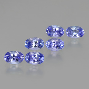 0.5ct Oval Facet Intense Violet Blue Tanzanite Gem (ID: 445919)