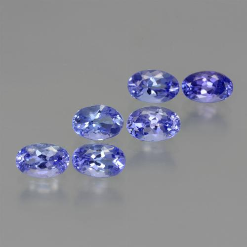 0.5ct Oval Facet Intense Violet Blue Tanzanite Gem (ID: 445920)