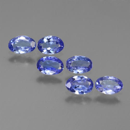 Violet Blue Tanzanite Gem - 0.3ct Oval Facet (ID: 445990)