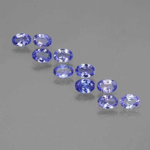 Violet Blue Tanzanite Gem - 0.4ct Oval Facet (ID: 446079)