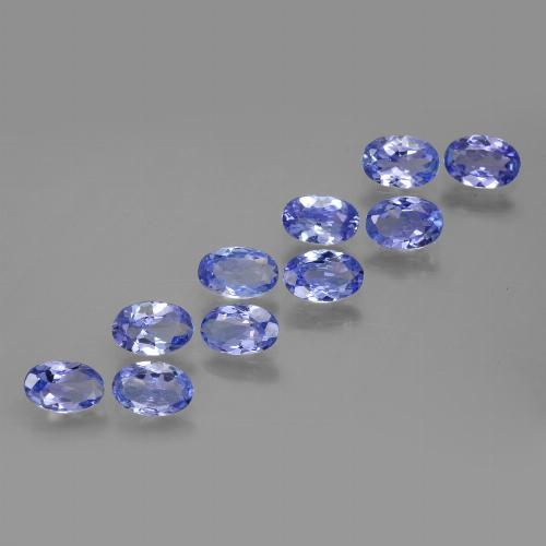 Violet Blue Tanzanite Gem - 0.4ct Oval Facet (ID: 446150)