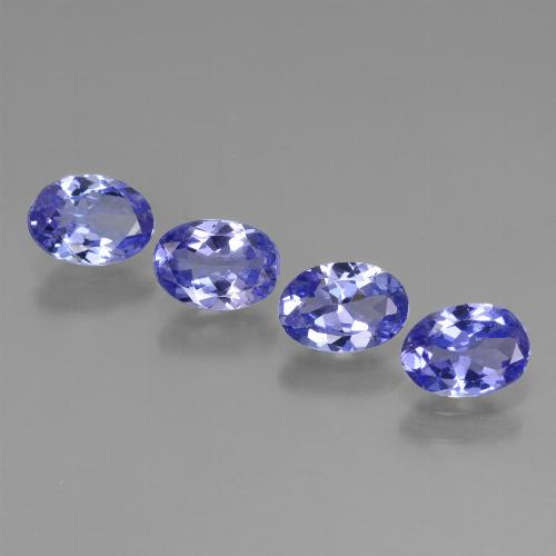 0.6ct Oval Facet Intense Violet Blue Tanzanite Gem (ID: 446451)