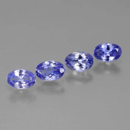 Violet Blue Tanzanite Gem - 0.4ct Oval Facet (ID: 446452)