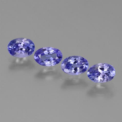 0.5ct Oval Facet Intense Violet Blue Tanzanite Gem (ID: 446455)