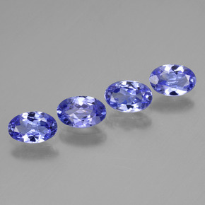 Pastel Blue Tanzanite Gem - 0.4ct Oval Facet (ID: 446456)