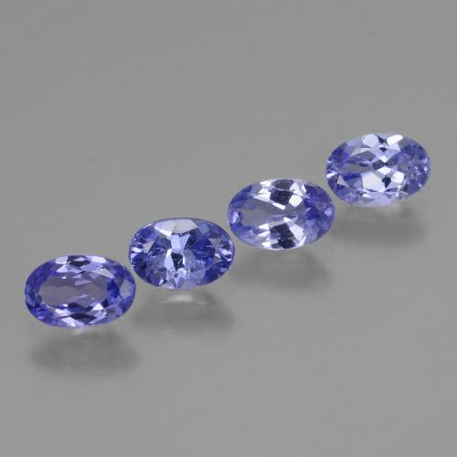 0.5ct Oval Facet Intense Violet Blue Tanzanite Gem (ID: 446458)