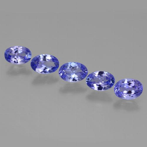 0.6ct Oval Facet Intense Violet Blue Tanzanite Gem (ID: 446473)