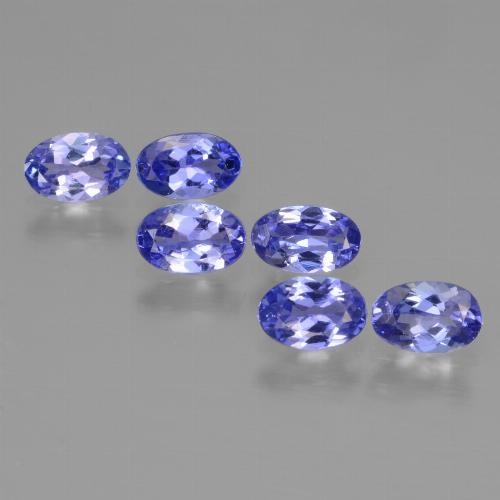 0.4ct Oval Facet Intense Violet Blue Tanzanite Gem (ID: 446493)