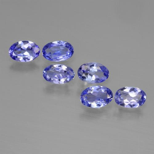 Violet Blue Tanzanite Gem - 0.3ct Oval Facet (ID: 446495)