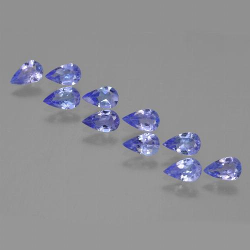 0.2ct Pear Facet Medium Blue Tanzanite Gem (ID: 453915)