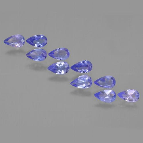 0.2ct Pear Facet Medium Blue Tanzanite Gem (ID: 453917)