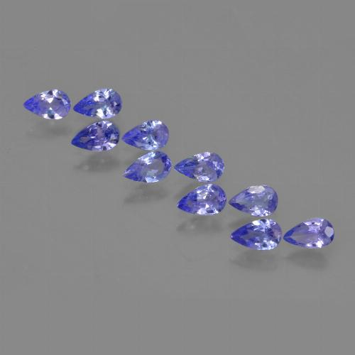 0.2ct Pear Facet Intense Blue Tanzanite Gem (ID: 453925)