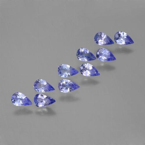 0.2ct Pear Facet Intense Violet Blue Tanzanite Gem (ID: 454012)