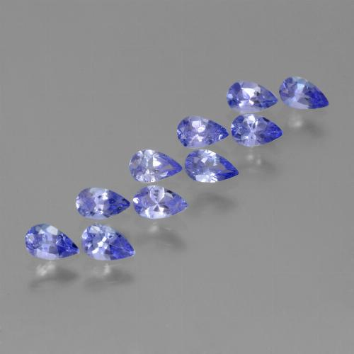 Violet Blue Tanzanite Gem - 0.2ct Pear Facet (ID: 454013)