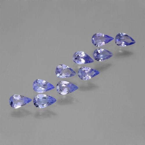 thumb image of 0.2ct Pear Facet Violet Blue Tanzanite (ID: 454063)