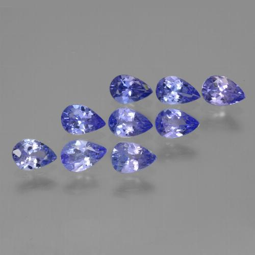 0.4ct Pear Facet Intense Violet Blue Tanzanite Gem (ID: 454067)