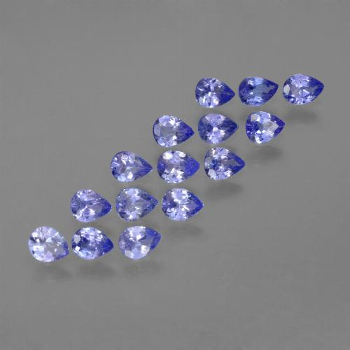 Violet Blue Tanzanite Gem - 0.2ct Pear Facet (ID: 454068)