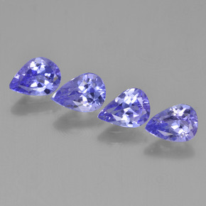 0.7ct Pear Facet Intense Violet Blue Tanzanite Gem (ID: 454085)
