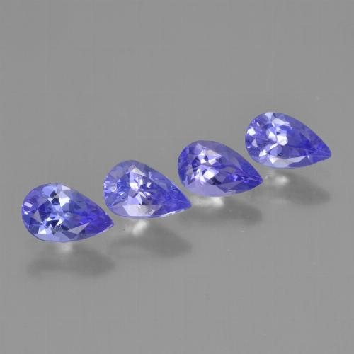 0.4ct Pear Facet Deep Blue Tanzanite Gem (ID: 454086)