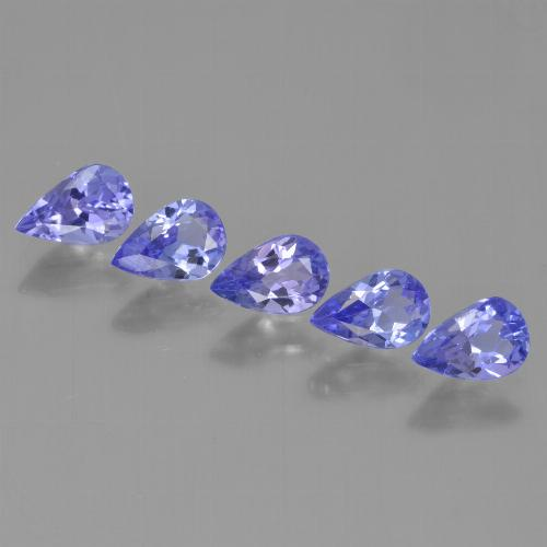 0.4ct Pear Facet Electric Blue Tanzanite Gem (ID: 454087)