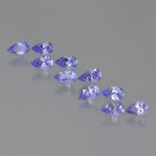 Violet Blue Tanzanite Gem - 0.2ct Pear Facet (ID: 454162)