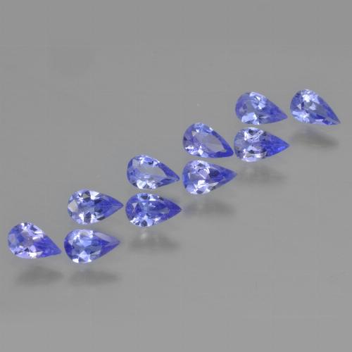 Violet Blue Tanzanite Gem - 0.2ct Pear Facet (ID: 454164)