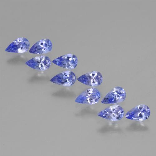 Violet Blue Tanzanite Gem - 0.2ct Pear Facet (ID: 454400)