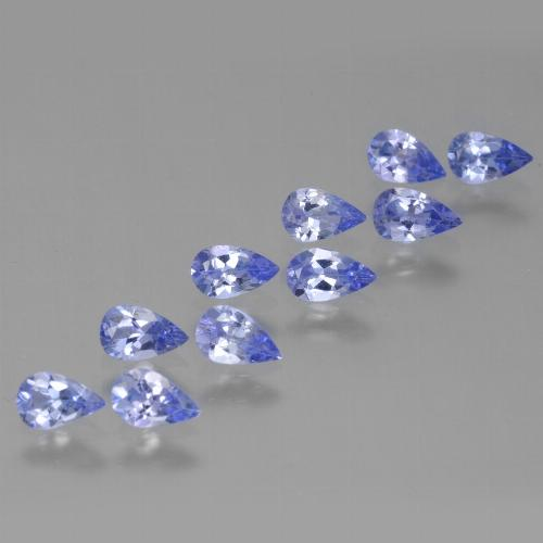 Violet Blue Tanzanite Gem - 0.2ct Pear Facet (ID: 454405)