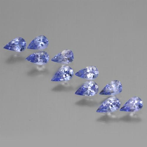 Violet Blue Tanzanite Gem - 0.2ct Pear Facet (ID: 454406)