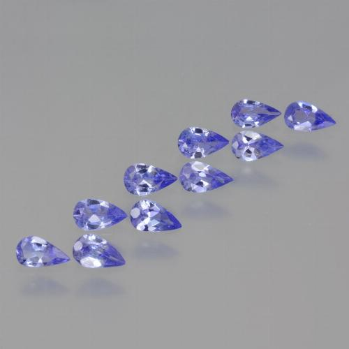 Violet Blue Tanzanite Gem - 0.2ct Pear Facet (ID: 454445)