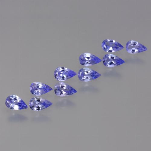 Violet Blue Tanzanite Gem - 0.2ct Pear Facet (ID: 454454)