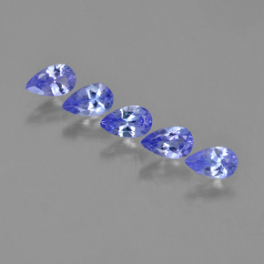 thumb image of 0.3ct Pear Facet Violet Blue Tanzanite (ID: 454563)