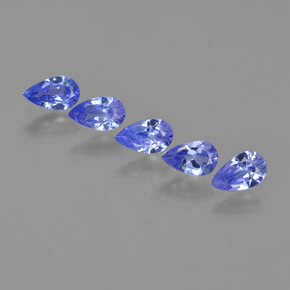 Violet Blue Tanzanite Gem - 0.2ct Pear Facet (ID: 454564)