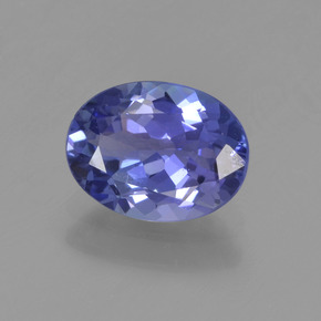 1.4ct Oval Facet Intense Violet Blue Tanzanite Gem (ID: 456053)