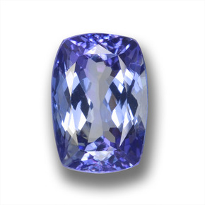 Violet Blue Tanzanite Gem - 2.7ct Cushion-Cut (ID: 458807)
