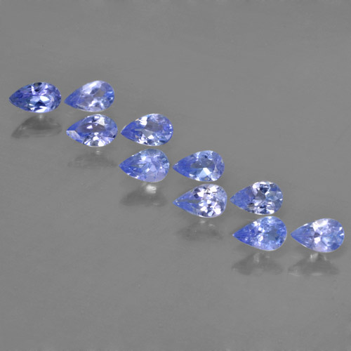 Violet Blue Tanzanite Gem - 0.2ct Pear Facet (ID: 462490)