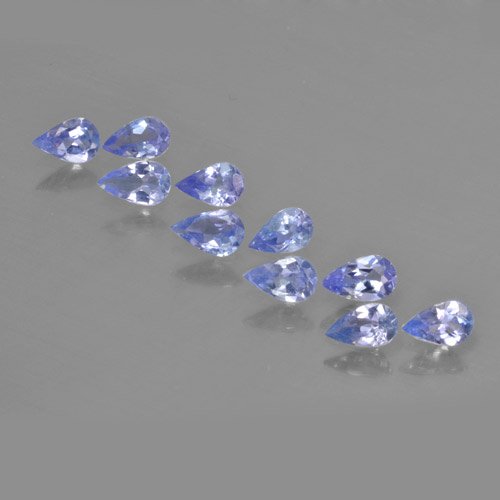 Violet Blue Tanzanite Gem - 0.2ct Pear Facet (ID: 462493)